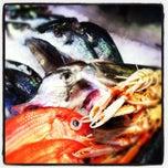 Photo taken at Budaörsi Halpiac - The Fishmonger by Dalma on 8/28/2012