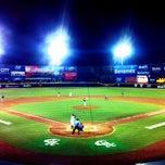 Photo taken at Estadio de Beisbol Eduardo Vasconcelos by Andrés R. on 8/6/2012