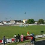 Photo taken at Estadio Municipal de A Baiuca by Rebeca A. on 4/1/2012