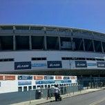 Photo taken at Estadio Juan Domingo Perón (Racing Club) by Jorejo G. on 2/26/2012