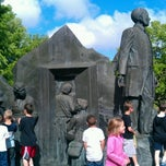 Photo taken at Underground Railroad Sculpture by Kristan R. on 6/5/2012