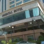 Photo taken at Oriental Hotel by William U. on 4/26/2012
