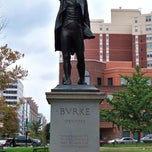 Photo taken at Edmund Burke Statue by Steven M. on 8/18/2012