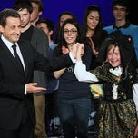 Photo taken at Centre Sportif des Rives de la Thur - Salle Thierry Omeyer by Nicolas Sarkozy on 4/25/2012