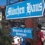 Photo taken at München Haus by Bryan B. on 4/21/2012