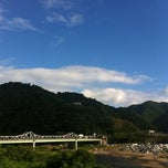 Photo taken at 笠置大橋 by zero x-7 on 8/4/2012