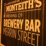Photo taken at Monteiths Brewery Bar by Jeff P. on 2/9/2012
