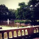 Photo taken at Bishop's Park by Michael B. on 8/11/2012