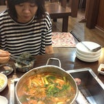 Photo taken at 주문진 생태찌게 by Yejin on 8/21/2012