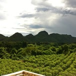 Photo taken at Pavilion Rim Kwai Resort Kanchanaburi by ✨ KiTTië ✨ S. on 8/20/2012