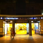 Photo taken at Uxbridge London Underground Station by Romain D. on 3/12/2012
