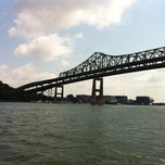 Photo taken at Tobin Memorial Bridge by Ian N. on 7/4/2012