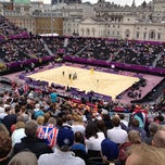 Photo taken at London 2012 Horse Guards Parade by Jim H. on 7/31/2012