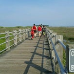 Photo taken at Silver Sands State Park Boardwalk by Melvin M. on 5/27/2012