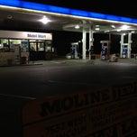 Photo taken at Mobil by Kuran M. on 5/22/2012