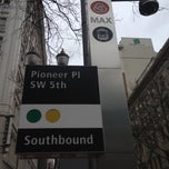 Photo taken at TriMet Mall/SW 5th Ave MAX Station by Mac P. on 4/3/2012