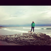 Photo taken at Sachuest Beach - Surfer's End by Caitriona™ on 4/12/2012