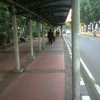Photo taken at Halte Bus Dukuh Atas by okkylh n. on 4/15/2012