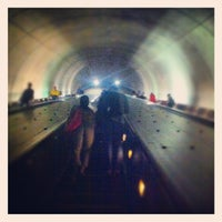 Photo taken at Tenleytown-AU Metro Station by Christopher W. on 8/7/2012