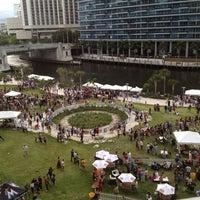 Photo taken at Miami Circle Park by Tomas S. on 8/4/2012