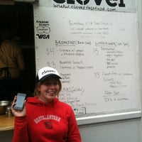 Photo taken at Clover Food Truck by Paula M. on 6/14/2011