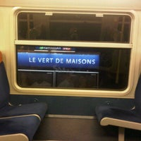 Photo taken at RER Le Vert de Maisons [D] by Diana H. on 11/17/2011