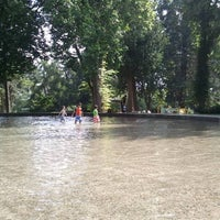 Photo taken at Volunteer Park Wading Pool by Omar S. on 8/21/2011