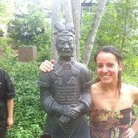 Photo taken at Umlauf Sculpture Garden by Joey S. on 4/26/2012