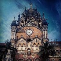 Photo taken at Chhatrapati Shivaji Terminus by Viraj M. on 8/28/2012