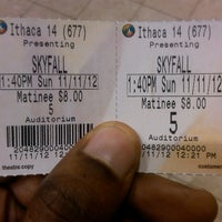 Photo taken at Regal Cinemas Ithaca Mall 14 by Ronald V. on 11/11/2012