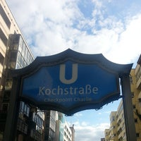 Photo taken at H Kochstr./Checkpoint Charlie by Eric B. on 9/28/2013