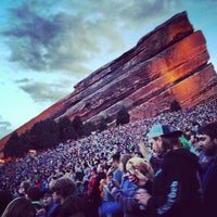 Photo taken at Red Rocks Park & Amphitheatre by Lindsay J. on 5/21/2013