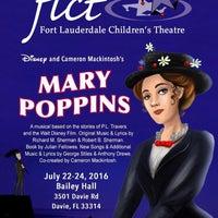 Photo taken at Fort Lauderdale Children's Theatre by Richard C. on 6/5/2016