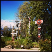 Photo taken at Totem Poles in Stanley Park by Yekta A. on 4/16/2013