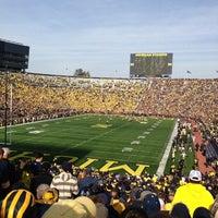 Photo taken at Michigan Stadium by Stephanie M. on 11/17/2012