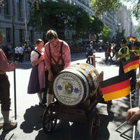 Photo taken at Oktoberfest In Central Park by Nicole T. on 9/15/2012