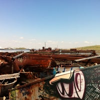 Photo taken at Staten Island Tugboat Graveyard by Mate on 5/3/2015