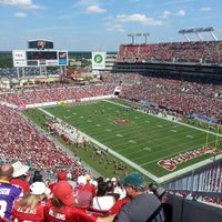 Photo taken at Raymond James Stadium by Justin D. on 10/13/2013