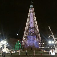 Photo taken at Soldiers & Sailors Monument by Amish P. on 11/27/2012