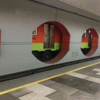 Photo taken at Metro Aquiles Serdán (Línea 7) by Mel B. on 10/4/2016