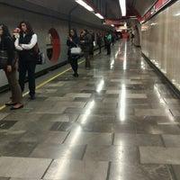 Photo taken at Metro Aquiles Serdán (Línea 7) by Mel B. on 9/28/2016
