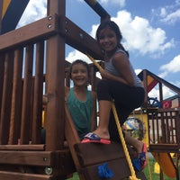 Photo taken at Rainbow Play Systems by Maribeth H. on 8/22/2015