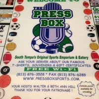 Photo taken at Press Box Sports Emporium & Eatery by Jeannie T. on 3/2/2013