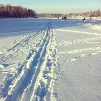 Photo taken at Hagaparken by Emelie N. on 1/19/2013