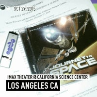Photo taken at IMAX Theater @ California Science Center by Michael D. on 10/28/2015