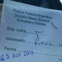 Photo taken at Policia Federal Argentina Departamento Central de Policia by Sofia P. on 4/15/2014