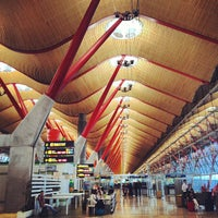 Photo taken at Adolfo Suárez Madrid-Barajas Airport (MAD) by Sun A. on 6/8/2013