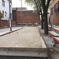 Photo taken at Little Italy Bocce Court by Mark P. on 4/18/2015