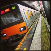 Photo taken at 東急田園都市線 三軒茶屋駅 (Sangen-jaya Sta.) (DT03) by Hiroki K. on 4/7/2013