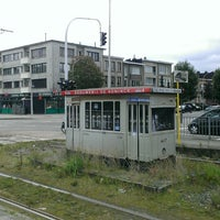 Photo taken at Halte Antwerp Stadion by Antwerpeneirke A. on 8/28/2014